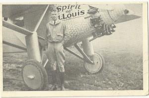 Lindbergh postcard (front)