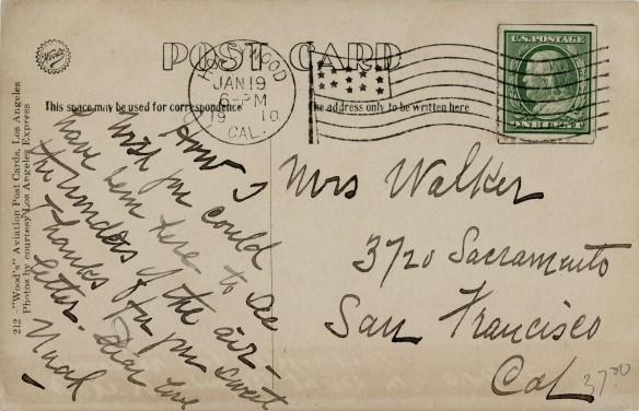Glenn Curtiss 1910 Verso