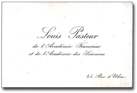 Louis Pasteur Card
