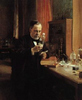Louis Pasteur in Lab