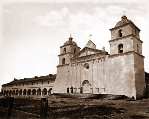 Mission_Santa_Barbara_by_Carleton_Watkins,_1876[1]
