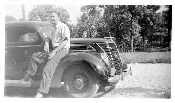 Alf and his  '37 Ford - 1937