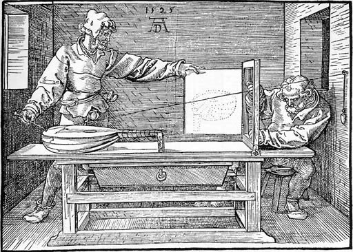 Durer-Artist drawing a Lute 1525[1]