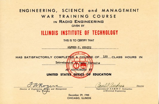 Dad's IIT Radio Diploma