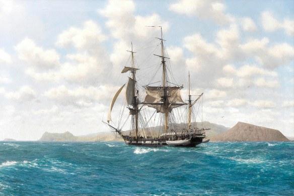 H.M.S. Beagle_Galapagos_John Chancellor
